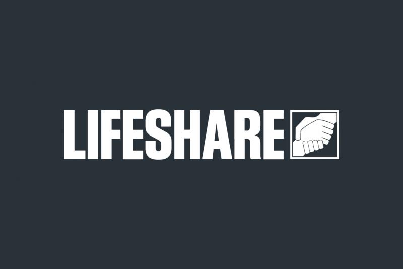 lifeshare white logo image