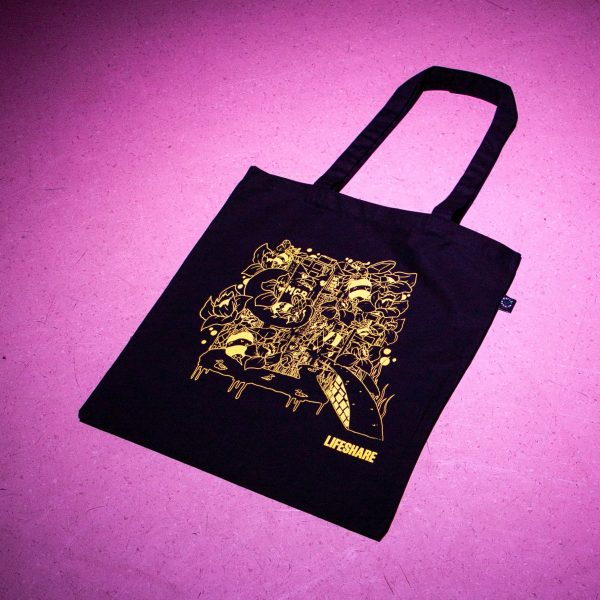 Heshty Illustration X Lifeshare Tote Bag