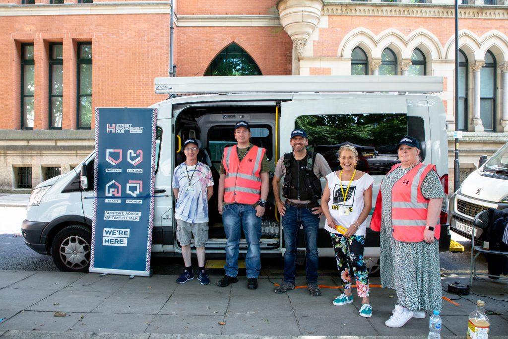 Street Engagement Hub staff and volunteers