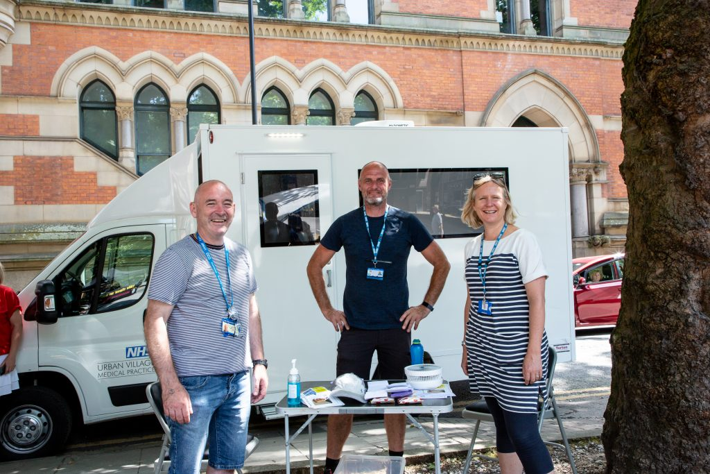 urban village medical practice van and staff