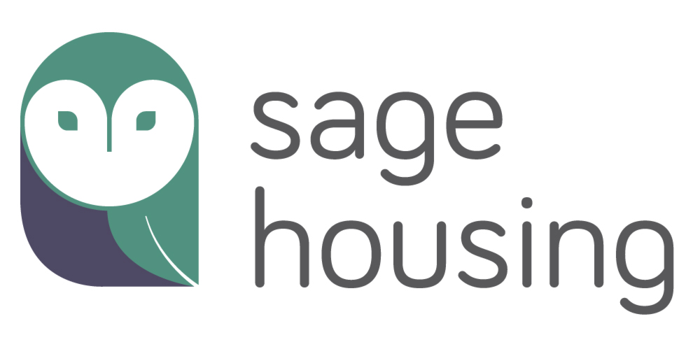 Sage Housing logo (green and grey owl)