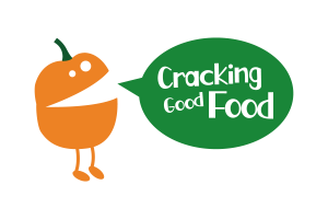 Cracking good Food White on green